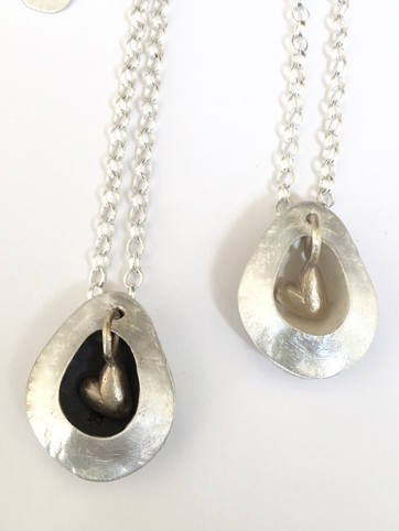 Limpet Shell Necklace Silver and Gold