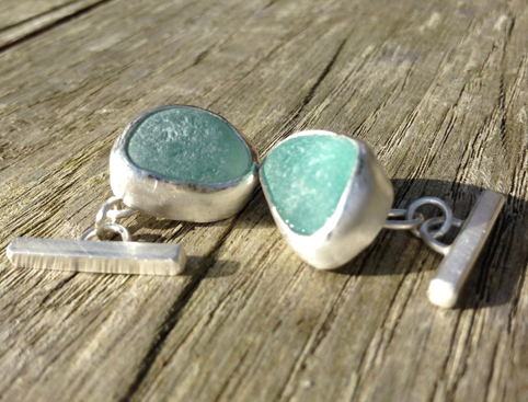 Seaglass Cufflinks