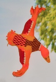 A knitted flying duck!