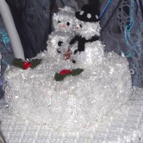 A very frosty Christmas cake!