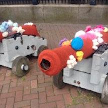 Yarn bombing in Hull