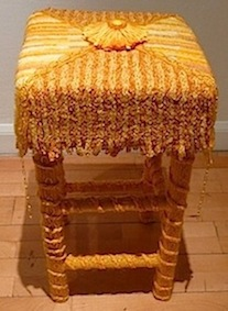 Square stool by Lilla Wren