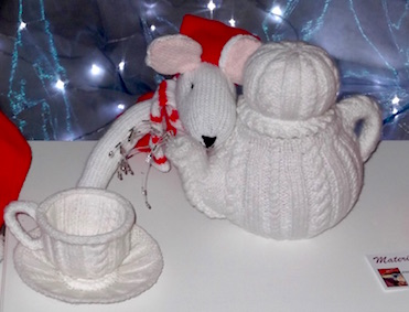 Snowman teapot and cup by Kate Wild