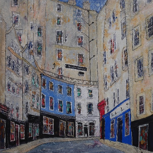 In The Old Town, Edinburgh 28 x 28 ins (sold)