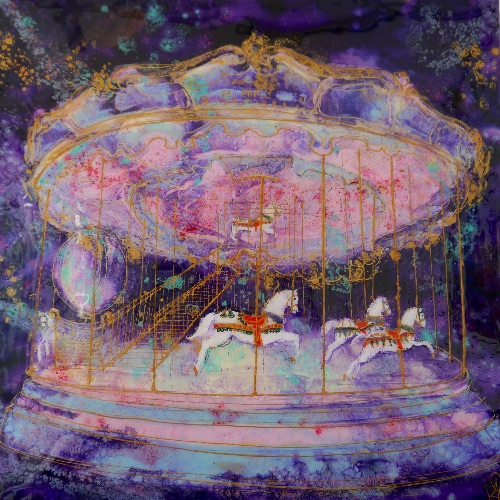 Magical Mystical Carousel in the Park (sold)