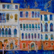 Old Palaces, Venice 28 x 28 ins (sold)