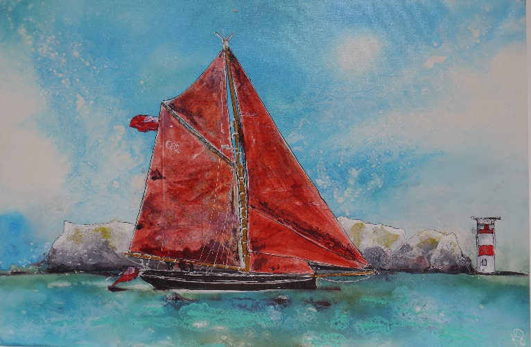 Heading out Through the Needles (sold)