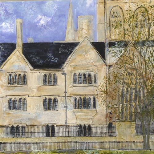 Across the Cricket Ground, Oxford (sold)
