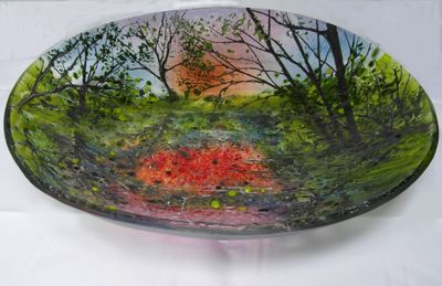 'Reflections' Large Glass Bowl SOLD