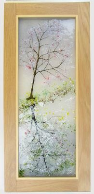 'Cherry Blossom Reflections #2' Picture. SOLD