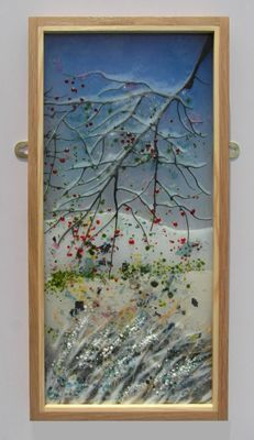 'Winter at Osberton' Picture exhibited at Glorious Glass Exhibition, St Helens