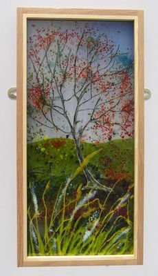 'Autumn at Osberton' Picture exhibited at Glorious Glass Exhibition, St Helens