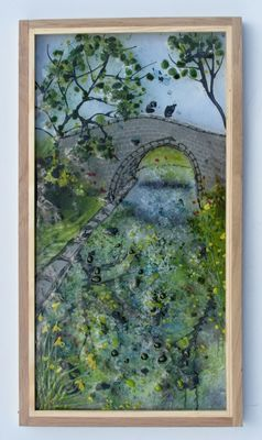 'Canal Bridge Reflections', SOLD