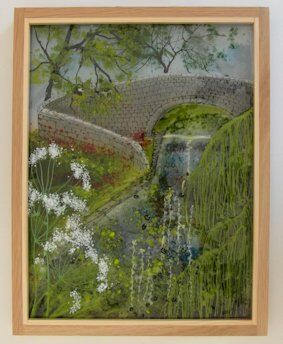 'Canal Bridge With Willow' Picture - SOLD