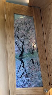 'Cherry Blossom Reflections' Interior Door