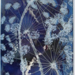 Blue Cow Parsley Wall Panel