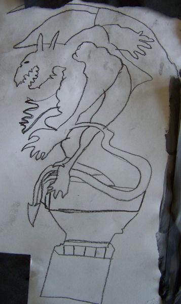 Gargoyle Drawing