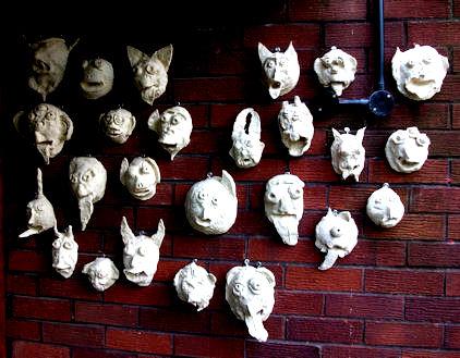 Gargoyles displayed outside