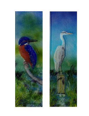'Kingfisher & Heron' Boat Front Door Panels