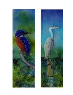 'Kingfisher & Heron' Boat Front Door Panels