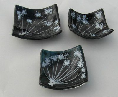 Mini Dishes 'Blue Cow Parsley', set of 3, £40