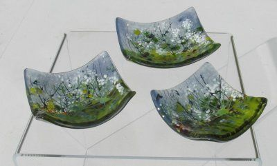 Mini Dishes 'Cow Parsley', set of 3, SOLD
