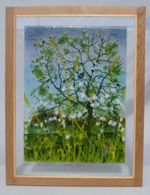 'Summer Cow Parsley' Picture, sold at 'Glorious Glass' Exhibition Aylesbury