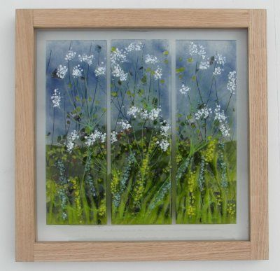 'Cow Parsley Triptych' Picture, SOLD