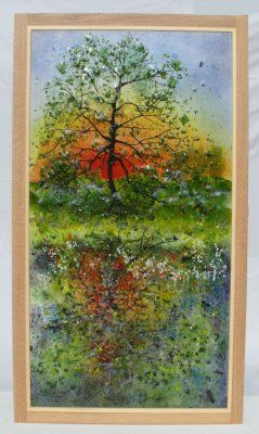 'Oak Tree Reflections' Picture, SOLD
