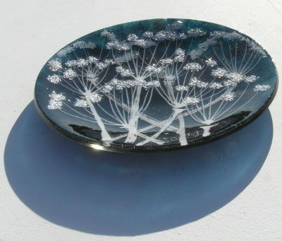 'Blue Cow Parsley' Plate - £85