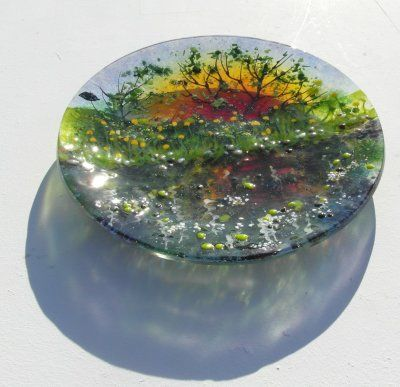 'Reflections' Plate, SOLD