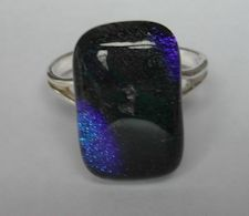 Glass Ring With Sterling Silver Mount, £25