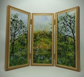 'Springtime in Manton' Glass Screen