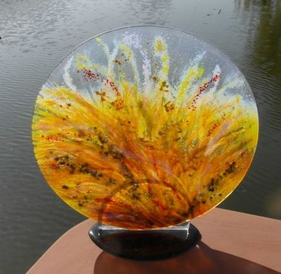 'Flood Plain' Disk Sculpture, SOLD