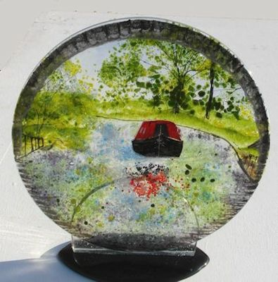 'Canal Boat' Disc Sculpture, £135