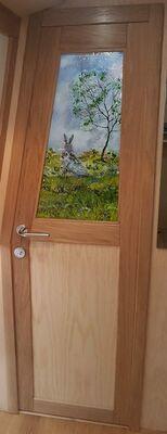 'Springtime Hare', Boat Interior Door Panel