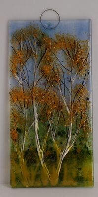 'Autumn Birch' Wall Plaque, SOLD
