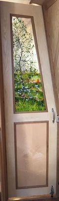 'Spring With Poppies' Boat Interior Door