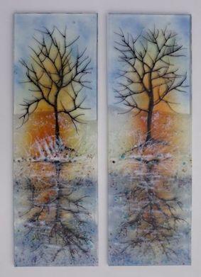 'Winter Reflections' Boat Door Panels
