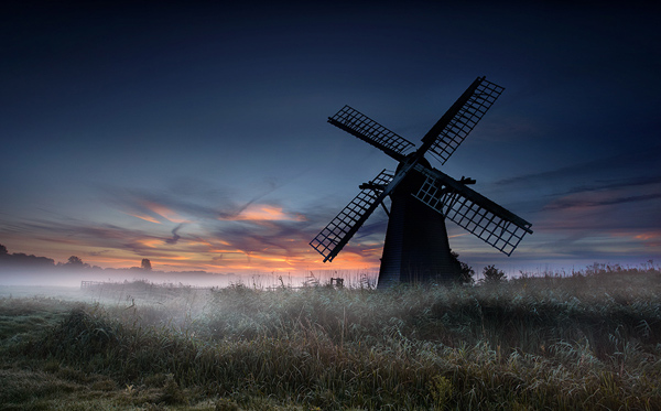 Herringfleet Smock Mill at Dawn