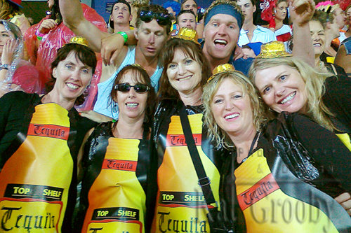 Supporters at the Rugby 7s Tournament in Wellington