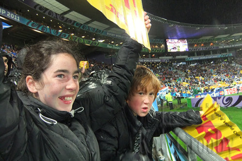 All Black supporters