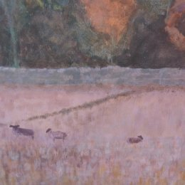 Sheep Field - acrylic