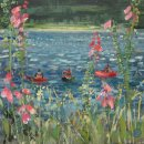 Canoes and foxgloves