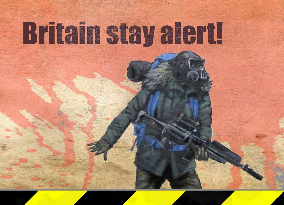 Stay Alert postcard