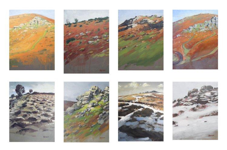 Dartmoor landscapes sheet