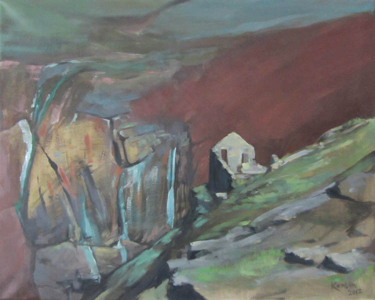 """Copper Mine"" oil on canvas 51cmx40cm"