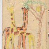 """Giraffes"" - Overlapping forms. (Age 5)"