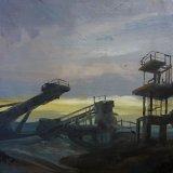 """""""Industrial Study 5"""" oil on canvas 29cmx29cm"""