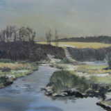 """Snow at Postbridge"" oil on canvas 60cmx73cm"